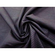 Hot Stripe Linen Blend- Navy/Red