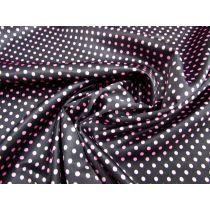 Smooth Spot Satin- Pink on Black