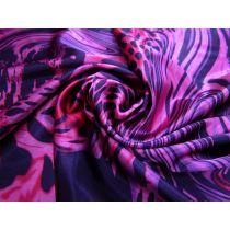 Psychedelic Leopard Stretch Satin