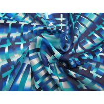 Shattered Glass Chiffon- Blue