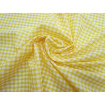4mm Gingham Cotton Polyester- Yellow