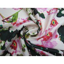 Serendipity Floral Satin Chiffon #1184