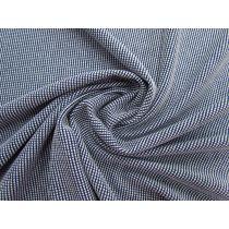 Square Check Knit- Navy / White #1202