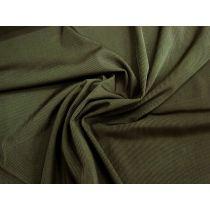 Italian Shiny Ribbed Spandex- Canopy Leaf #1261