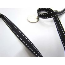 Stitch Ribbon 10mm- Black / White