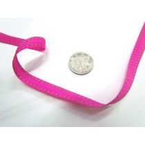 Stitch Ribbon 10mm- Fuchsia / Lime