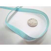 Stitch Ribbon 10mm- Baby Blue / White