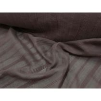 Fine Liner Embroidered Voile- Chocolate