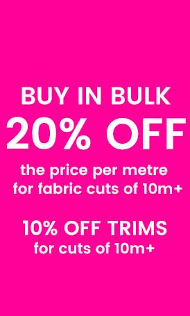 Save on Fabric 10m+